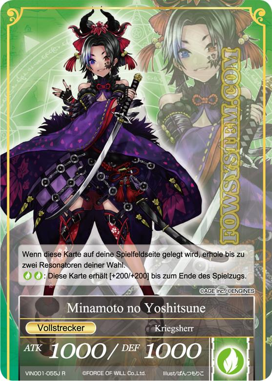 Force of Will TCG Karte Minamoto no Yoshitsune